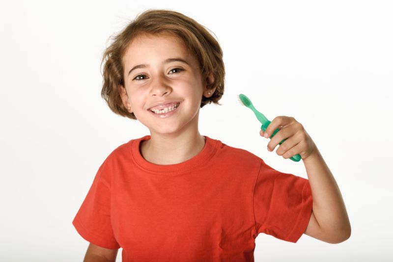 cepillarse los dientes niños